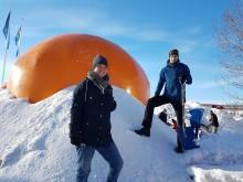 Snöigloo på Luleå tekniska universitet