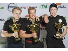 Glada vinnare i Yrkes-SM för Yrkesförare
