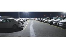Halmstad Hamn miljösatsar med LED mastbelysning på biluppställningsyta
