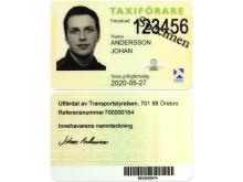 Ny, säkrare legitimation för taxiförare