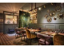 Restaurant tables at Spedition Hotel, Thun, Switzerland, hotel design by Stylt Trampoli.JPG