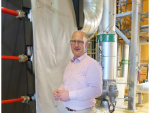 Björn Nilsson, fjärrvärmeansvarig på Höganäs Energi, är glad åt den miljösatsning som Klimatklivet nu möjliggör.