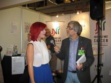 Bokmässan 2012: Karolina Jörn intervjuas av Tommy Ringart om sina dikter i boken TID för liv