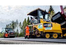 Beläggningsarbete med ECO-Asfalt