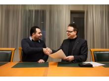 Adnan Abdul Ghani, Support Group Network, och rektor Martin Hellström