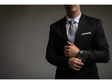 TicWatch Pro Elegant Black with suit