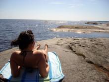 Klippbad vid Duse udde