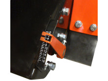 Clipper CS401 Floor saw - Cutting depth indicator