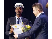 2015 års vinnare av TRYGG-stipendiet är Angeredsstudenten Abdi Abdirahman