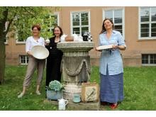 Drei der insgesamt 55 Aussteller*innen: v.l. Sybille Abel-Kremer, Gabriela Roth-Budig und Jana Heistermann