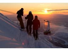 Åre solnedgang Foto: Karl Hägglund, SkiStar