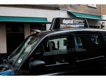 Digital Taxi Advertising at the DMS Launch