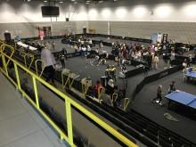 Eleverna på Grillska Gymnasiet ordnar aktiviteter under SM i Bordtennis