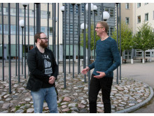 Svante Karlman (viec ordf) och Daniel Johansson (ordf), Studentkåren