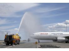 Vattensalut på Arlanda för China Eastern Airlines