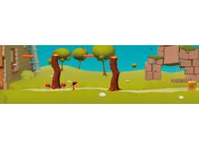 Miljö från dataspelet Equalize, bild 1