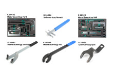 Kamasa Tools motorlåsverktyg - med artikelnummer och benämning