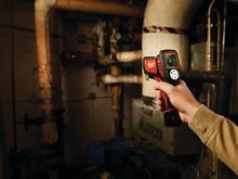 Kompakt M12 lasertemperaturmåler til ventilationsarbejde