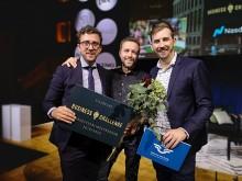 Fredrik Hammargården, Andreas Hjort och Victor Molén på startupbolaget Indivd.