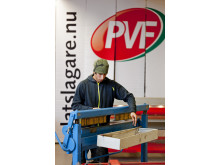 Plåtslagarelev, PVF Teknikcentrum i Katrineholm