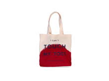 Yoga Girl I can't touch my toes tote