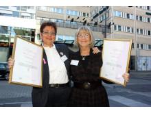 BROs utmärkelse 2010 till Aina Johnsson och Maud Svensson