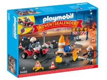 """Für Actionfans: Der PLAYMOBIL-Adventskalender """"Feuerwehreinsatz auf der Baustelle"""" (9486)"""