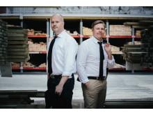 Magnus Svensson (CEO) och Patrik Dahlén (CIO) på Byggvarulistan