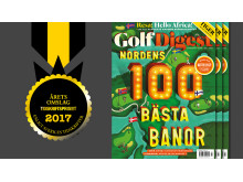 Årets omslag 2017 Golf Digest