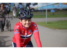 Emilie Moberg under EM Landevei 2017