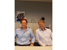 High res image - Cox Powertrain - From left: CEO Svein Helling with Sales Manager Stein Harald Joergensen