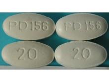 Falsk och äkta (vänster) Lipitor 20 mg (atorvastatin)