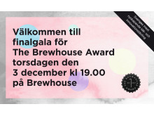 Inbjudan finalgala The Brewhouse Award