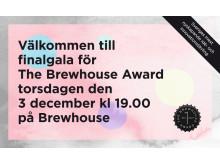 Inbjudan finalgala The Brewhouse Award