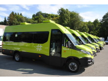 10 elektriske Iveco Daily går i skolebarnkjøring for Ruter.