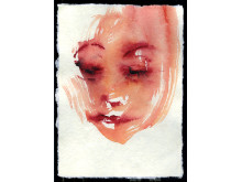 ©Leiko Ikemura, Self, 2008 Akvarell på papper, 21 x 15 cm