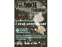 Frankie Teardrop 1 Year Anniversary Plakat
