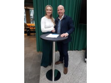 Påtroppende Daglig Leder Janette Haukland og Styreleder Gunnar Glavin Nybø