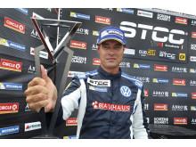 Fotograf: Tony Welam . Fredrik Ekblom tog sin 37:e seger i STCC-karriären.