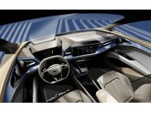 Audi Q4 e-tron concept (skitse af interiør)