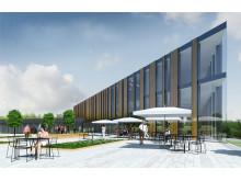 Nya lokaler för konferens och personalrestaurang Akademiska exteriör