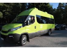 Skoleskyss med elektriske minibusser på Romerike