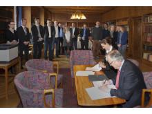 Underskrivelse af ESCO-aftale på Frederiksebrg Rådhus - ESCO teamet