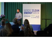 Johan Järnum, McNeil, talar på Nordic Clean Energy Week 2018