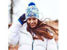 Falun knitted hat with pompom