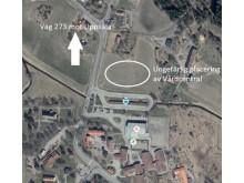 Placering av kommande vårdcentral i Almunge