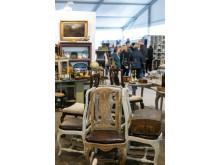 Malmö Dekorativa, möbler, monter och besökare