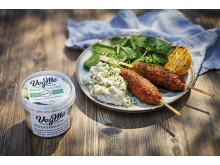 Receptbild - VegMe grillspett och potatissallad