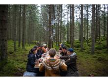 The Edible Country. test av bordet i Asa.