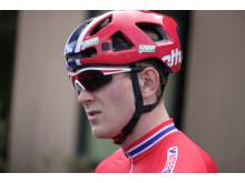 Daniel Hoelgaard før trening under sykkel-VM 2015